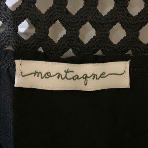 Montage by Mon Cheri Tops - Off the shoulder black short sleeve top
